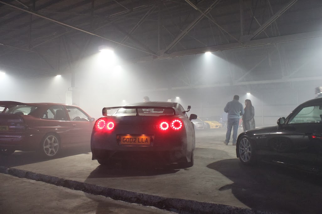 GT-R in man-made fog