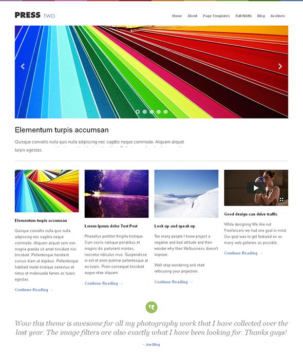 Press Two Flexible WordPress Theme