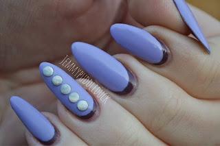 Ruffian nails, rimmel london, rita ora, wild-er-ness, vintage violet, barry m, nail art, she sells sea shells, nails, jemmypuddleduck