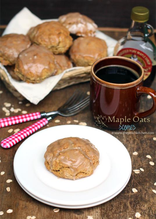 Maple Oat Scones and black coffee