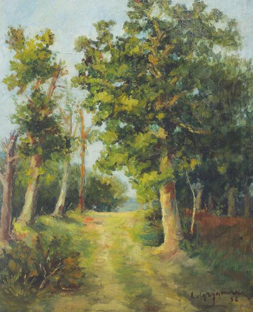Lucian Grigorescu - Potecă prin pădurea Mogoșoaia