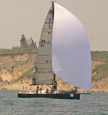 J/111 one-design class sailboat- sailing Around Block Island