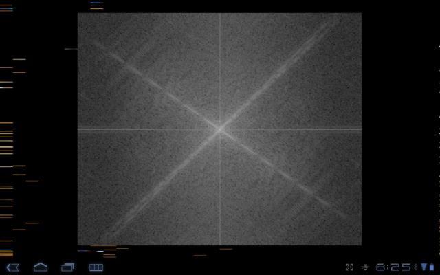 Discrete Fourier Transform of image through android camera