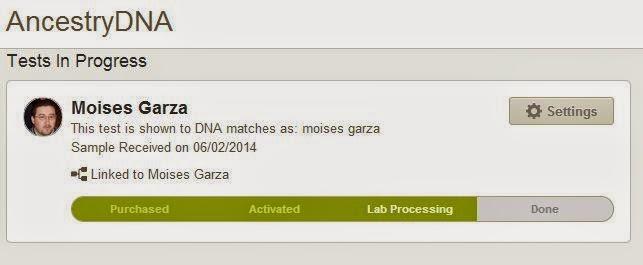 AncestryDNA Homepage Status