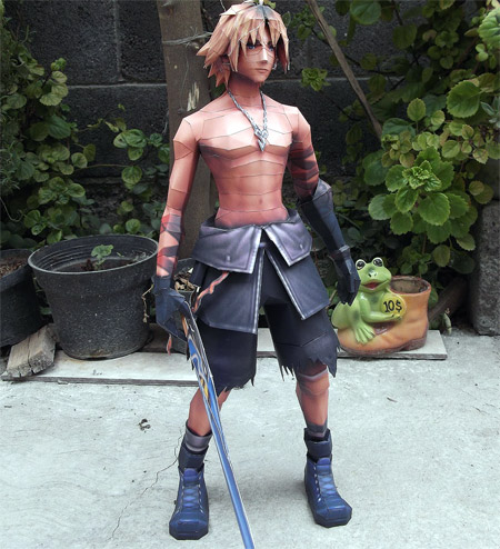Shirtless Tidus Papercraft