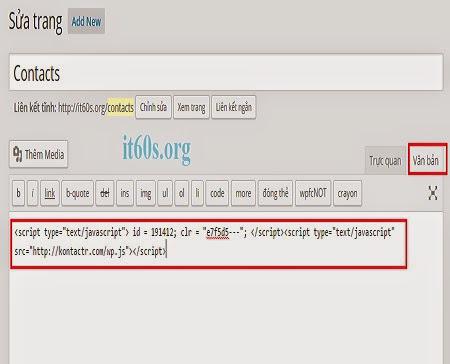 Cách tạo trang liên hệ đơn giản không plugin 10