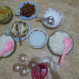 The evening meal at Tiara Homestay on Lombok's east coast
