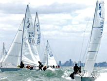 J/24 one-design sailboats- sailing Australian Nationals