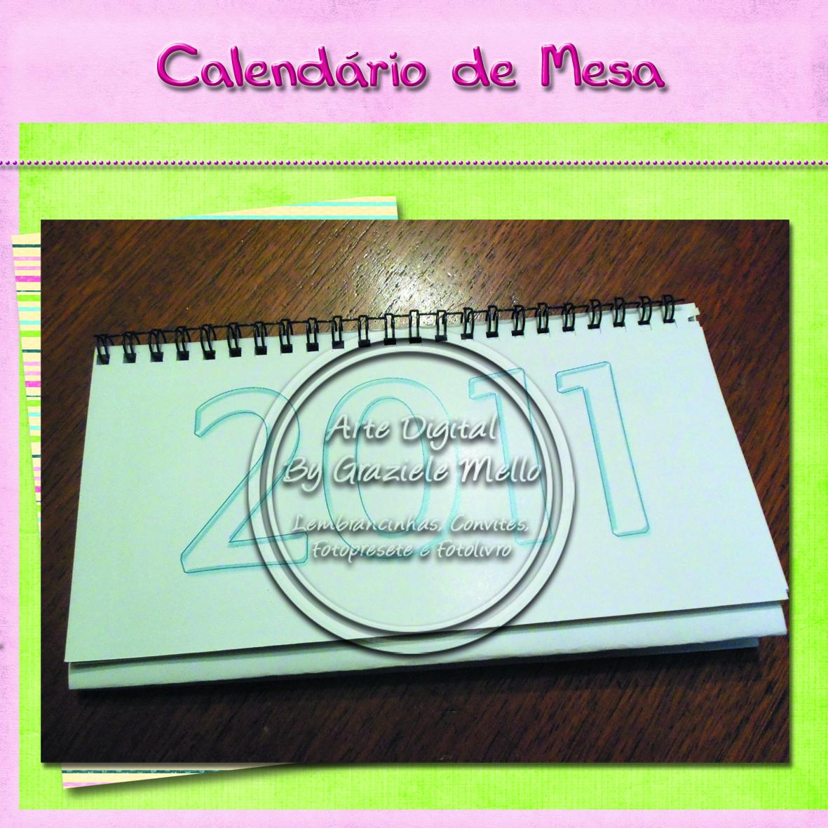 Decorando com arte lembrancinhas personalizadas - Calendario de mesa ...
