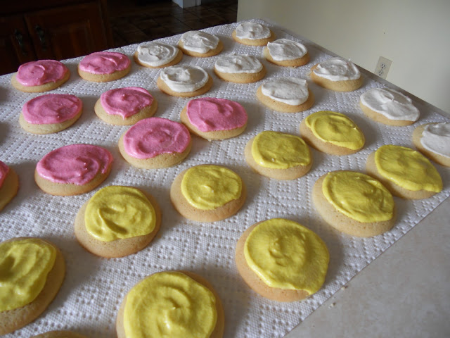 Frosted sugar cookies with buttercream