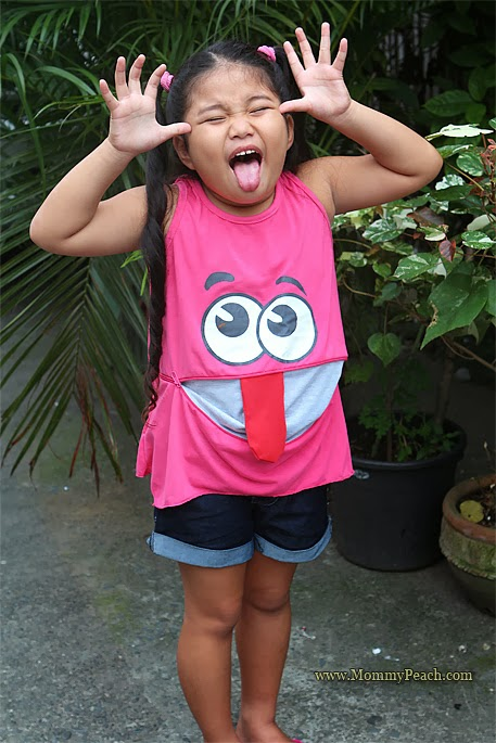 Ykaie's Shirt is Sticking it's Tongue Out! | www.thepeachkitchen.com