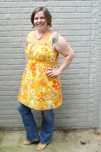 Poppy Tunic sewing pattern || This is awesome on it's own for the summer and I'm going to layer it come fall.