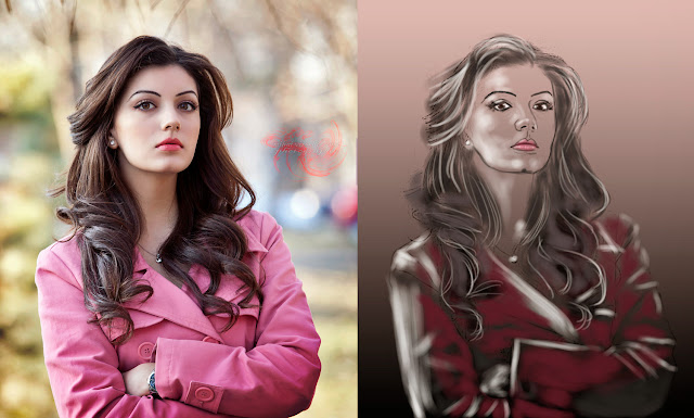 model digital painting