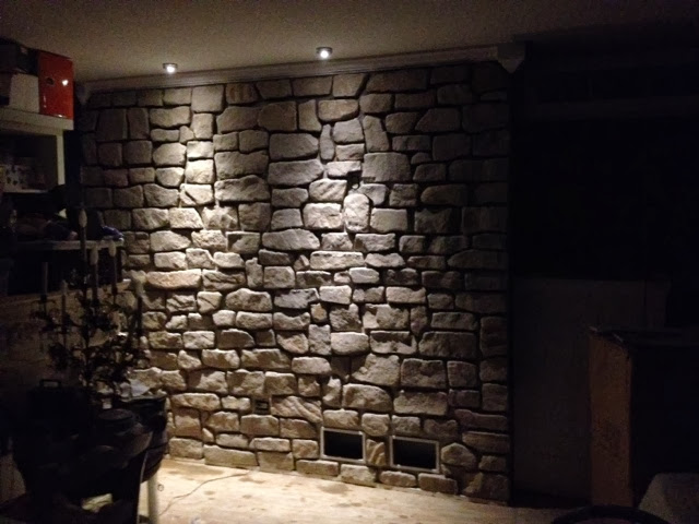General splendour stone accent wall complete - Stone accent wall living room ...