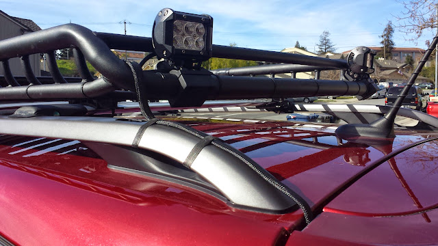 Roof Rack Lights Install 2014 Jeep Cherokee Forums