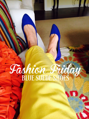 Fashion Friday - blue suede shoes