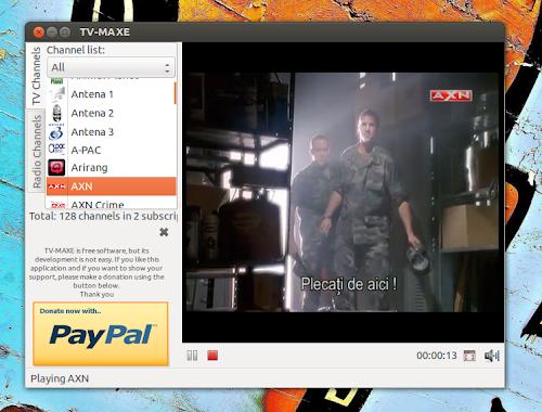 TV-Maxe 0.08 su Ubuntu 12.04