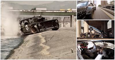Ken Block com Ford Mustang na Gymkhana 7 em Los Angeles
