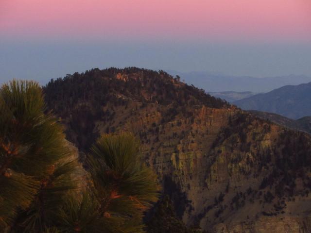 Haddock Peak from Reyes Peak in the sunset