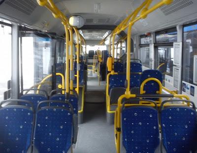 Man Lion's City 18 CNG - wnętrze autobusu