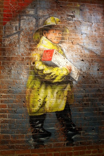 Painting at Chelsea Market in