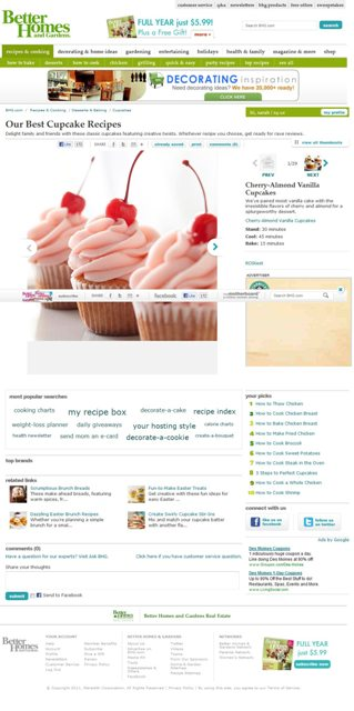 BHG.com's Redesigned Recipe Slideshow - Courtesy of BHG.com