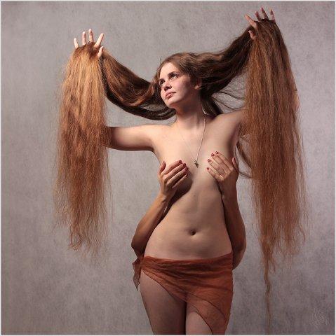 Long hair Art beautiful very long hair girl photos