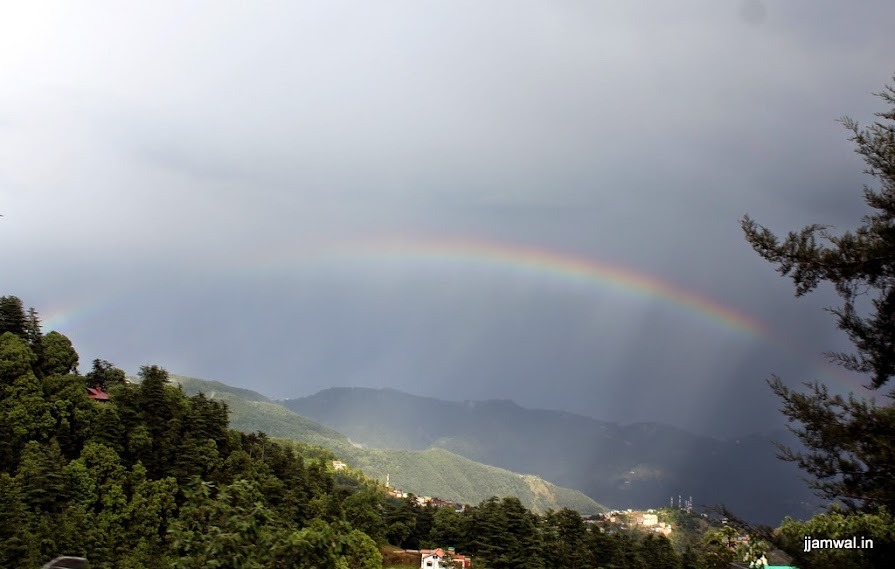 Rainbow on way to Shimla