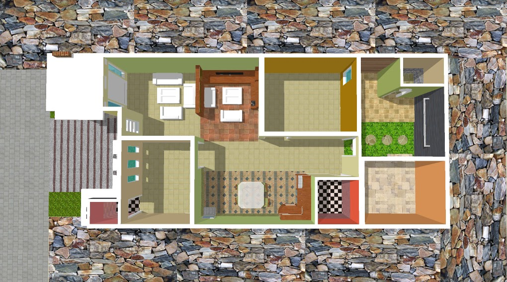 home desain home desain denah rumah 6x15