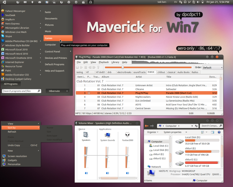 Maverick for Win7 by dpcdpc11@DeviantArt