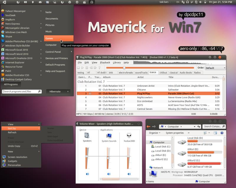 Maverick for Win7 by dpcdpc11@DeviantArt