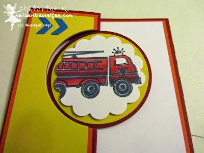 stampin up, fire brigade, fire truck, feuerwehr, feuerwehrauto, blendabilities, mix marker, geburtstag junge, boy's birthday