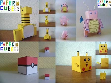 Paper Cubees Pokemon