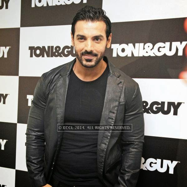 John Abraham, whose long hairstyle in his initial movies was quite the rage, was recently in the capital for the inauguration of a Toni & Guy outlet in South ExtensionII.