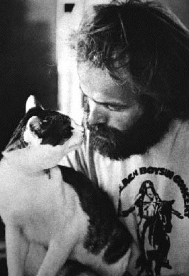 Al Jardine and a cat