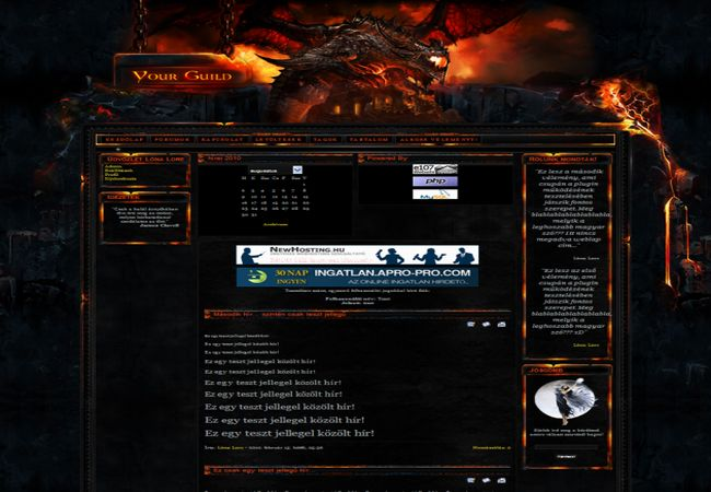 wow cataclysm e107 theme template
