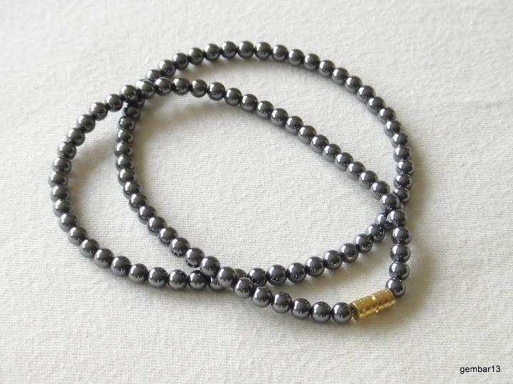 4 mm Collar De Hematites varios largos 4 mm Collar De Cuentas Hematites gris