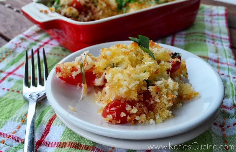 Baked Caprese via KatiesCucina.com #recipe #italian #sidedish #vegetarian