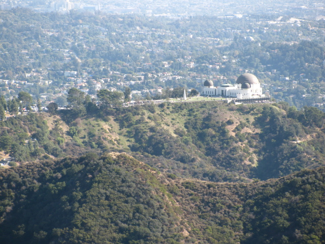 the Griffith Observatory on its hill