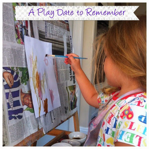 A play date to remember painting with natural materials for Painting with nature items