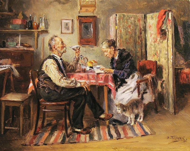 Vladimir Makovsky - Morning tea