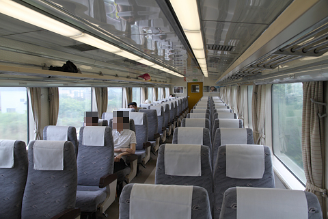 JR北海道 臨時特急「ヌプリ」 函館行き2号車 車内