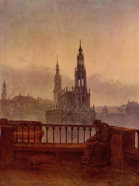 Carl Gustav Carus - Blick auf Dresden von der Brühlschen Terrasse
