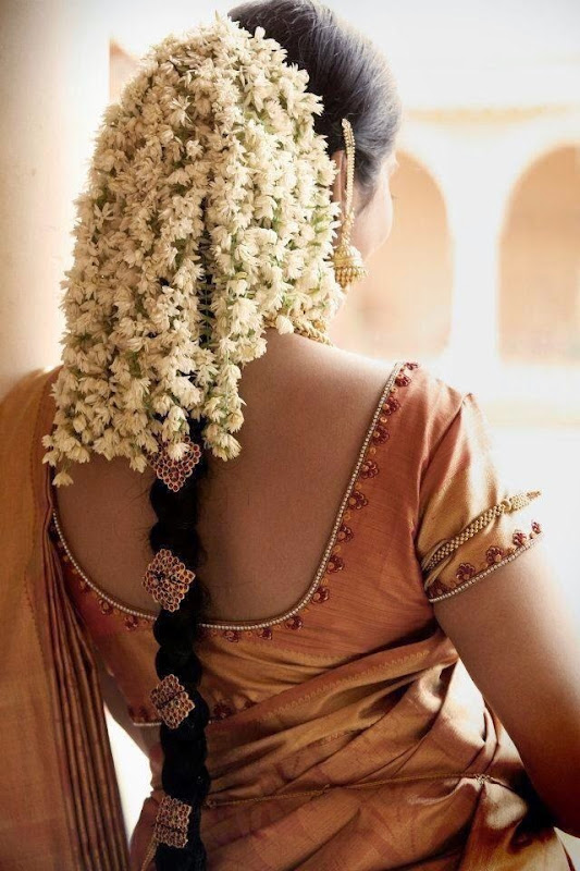 Plaited beauty bedecked with Jasmine!