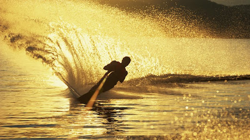 Water Skiing at Sunset.jpg