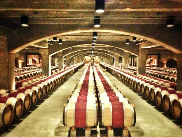 barrels at Robert Mondavi