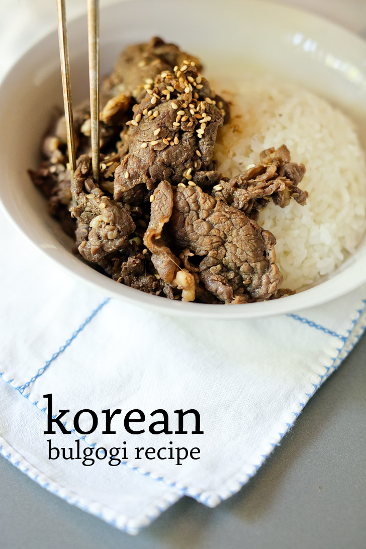 Korean Beef Bulgogi Recipe | Authentic korean recipes
