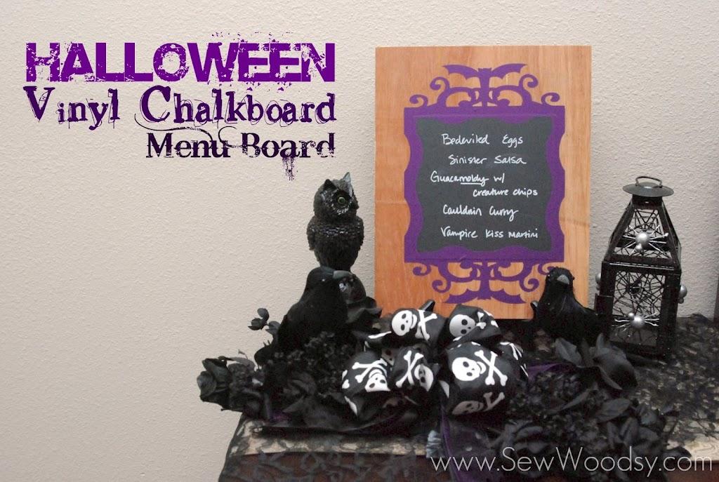 Halloween Vinyl Chalkboard Menu Board