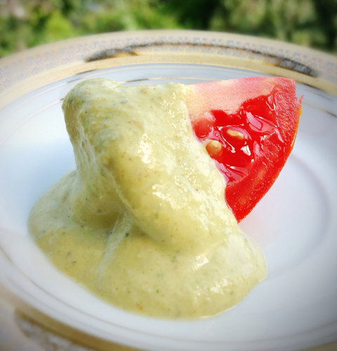 Tomato and Vegan Mango Sour Cream