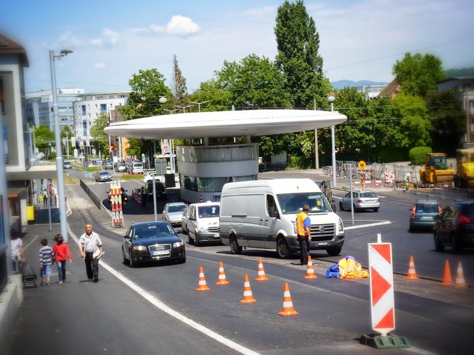 German border crossing